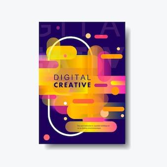 Abstrato moderno poster com formas dinâmicas de gradiente