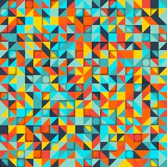 Abstrato. mosaico de formas geométricas coloridas