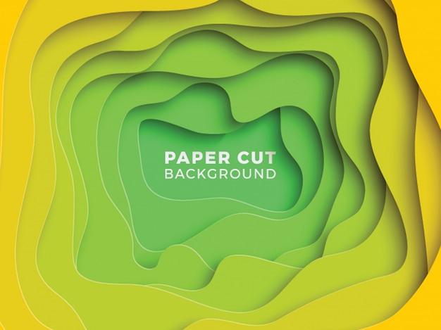Abstrato multicolor com camadas de corte de papel ondulado