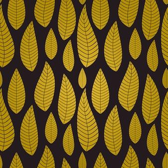Abstrato natural sem costura com folhas.