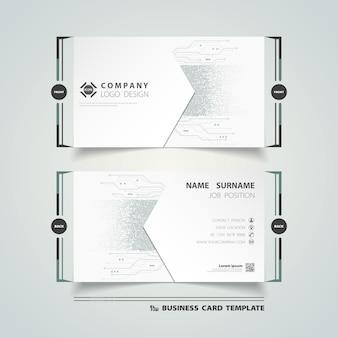 Abstrato novo design de modelo de cartão de visita futurista digital