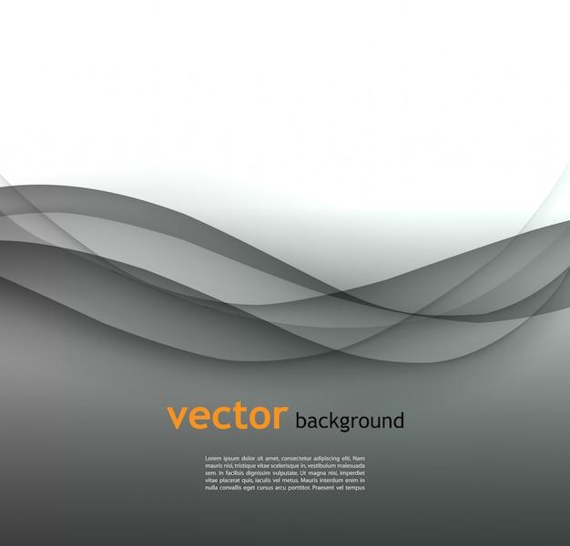 Abstrato onda cinza de fundo vector