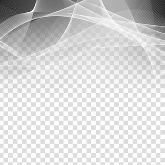Abstrato onda cinza elegante fundo transparente