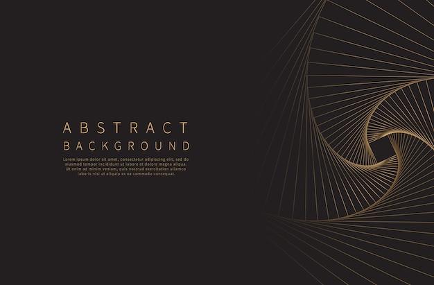 Abstrato. onda de linha dourada.