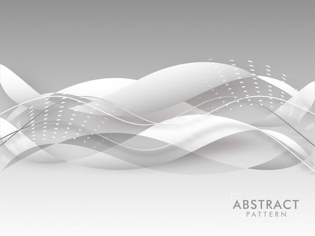 Abstrato onda padrão de fundo na cor cinza.