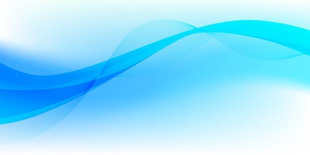Abstrato ondas branco e azul brilhante abstrato