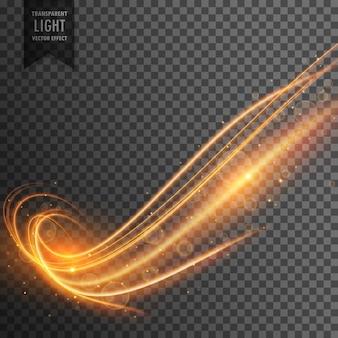 Abstrato ondulado efeito de luz transparente fundo do vetor