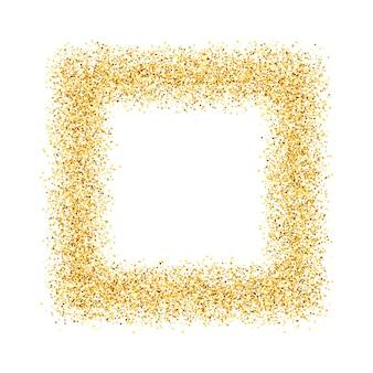 Abstrato, ouro, areia, poeira, brilho, moldura, quadrado