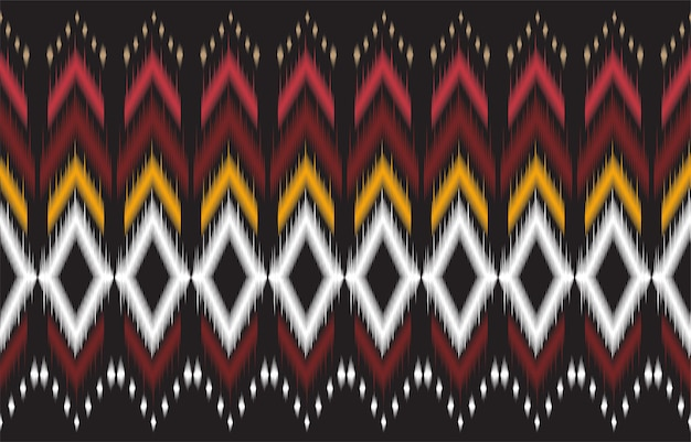 Abstrato padrão geométrico preto e vermelho nativo sem costura. fundo geométrico de repetição