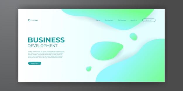 Abstrato para o modelo da web da página de destino. molde moderno do design abstrato. composição de gradiente dinâmico para capas, brochuras, folhetos, apresentações, banners. ilustração vetorial.