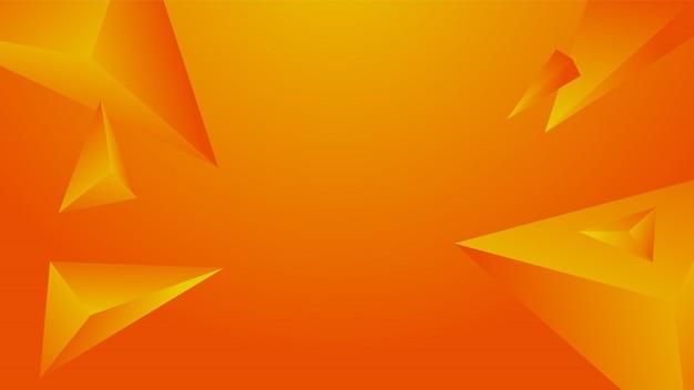 Abstrato polígono laranja em fundo gradiente.