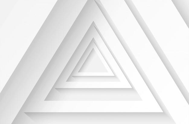 Abstrato. polígono triângulo papel branco plano de fundo. luz e sombra .