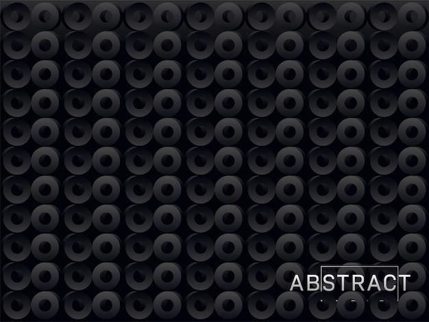 Abstrato pontos 3d ou fundo de círculos.