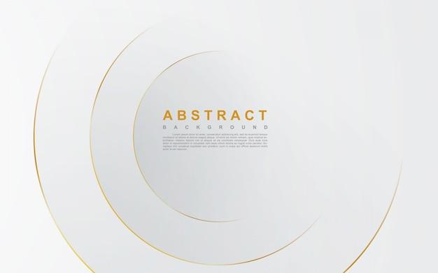 Abstrato prateado com linha de ouro do círculo
