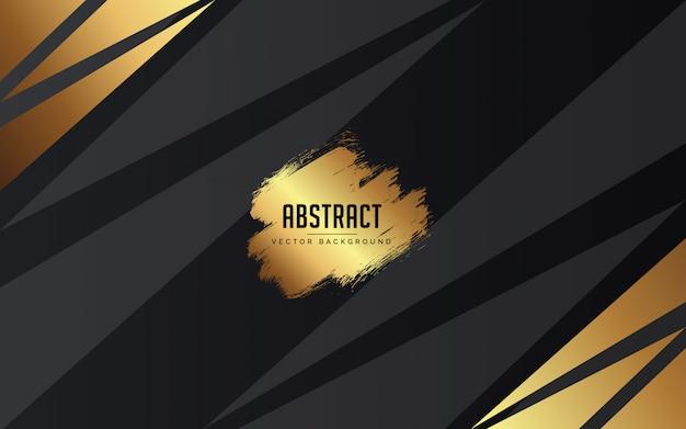 Abstrato preto, cinza e ouro cor moderna