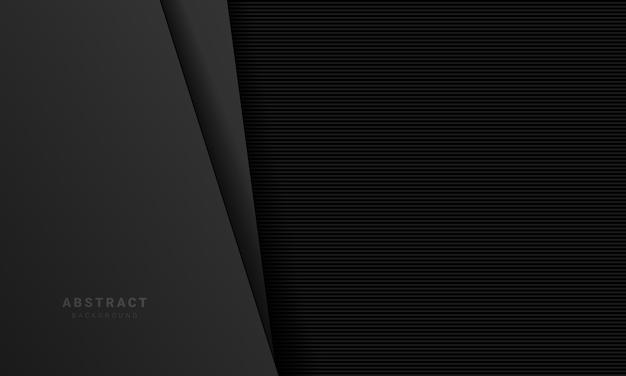 Abstrato preto com design de textura de papel 3d.