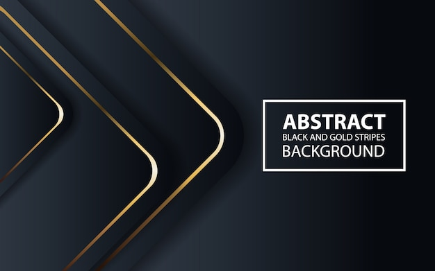 Abstrato preto com linhas douradas