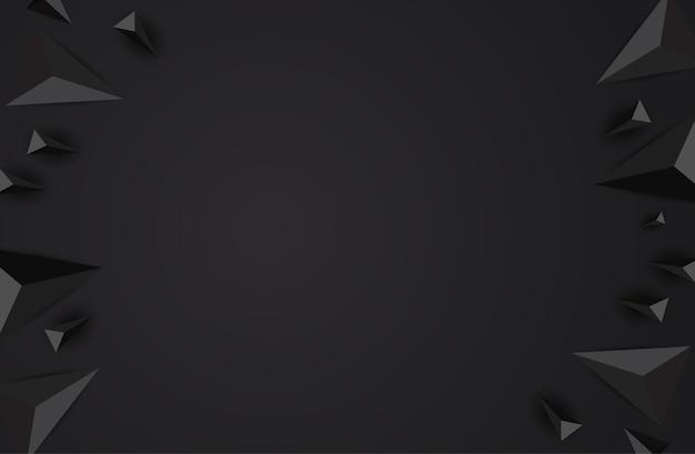 Abstrato preto com triângulos