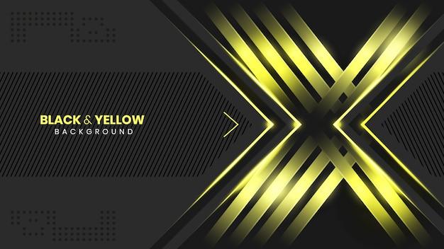 Abstrato preto e amarelo