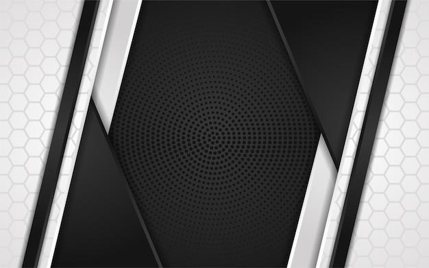 Abstrato preto e branco com textura de metal escura. fundo de luxo moderno