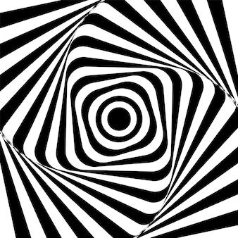 Abstrato preto e branco torcido