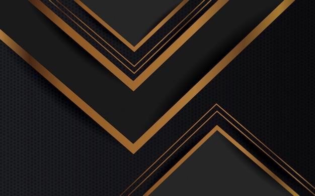 Abstrato preto e dourado cor design minimalista moderno