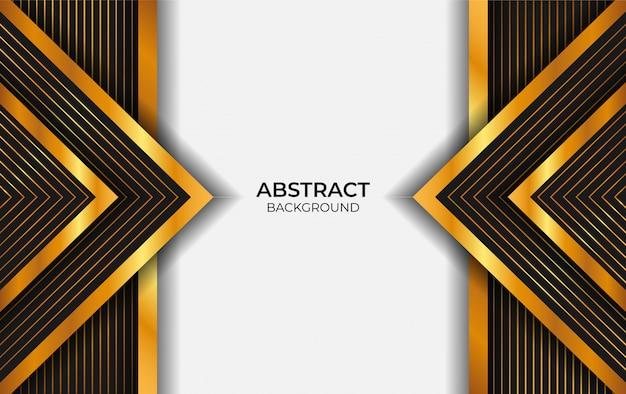 Abstrato preto e dourado de luxo