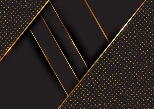 Abstrato preto e dourado