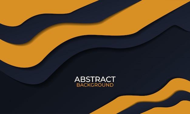 Abstrato preto e laranja