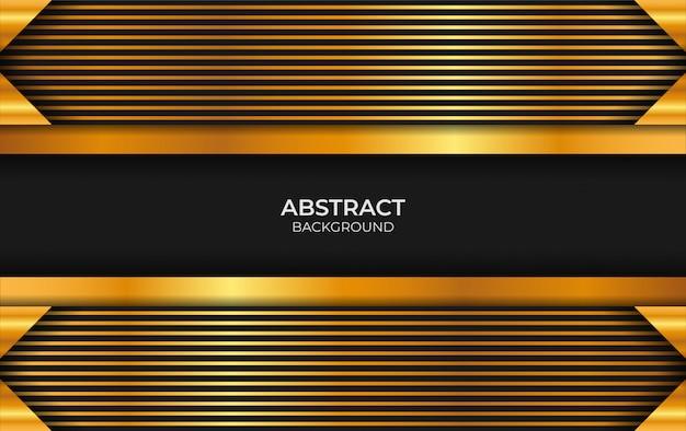 Abstrato preto e ouro design