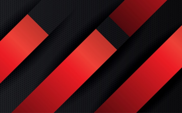 Abstrato preto e vermelho