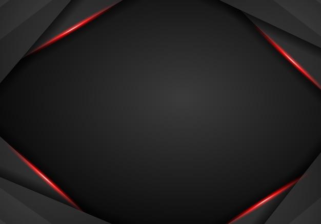 Abstrato preto metálico frame vermelho esporte design conceito inovação fundo