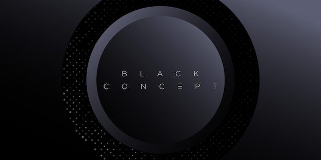 Abstrato preto premium minimalista com elementos geométricos escuros de luxo. papel de parede exclusivo para cartaz, folheto, apresentação, site, banner etc. -