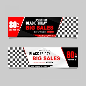 Abstrato preto venda de banner de sexta-feira com desconto