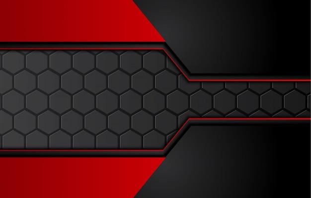 Abstrato preto vermelho metálico com listras de contraste. design de brochura gráfica abstrata