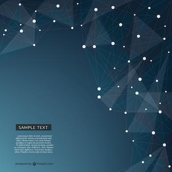 Abstrato projeto de rede triangular