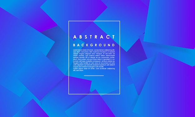 Abstrato quadrado azul, fundo abstrato forma geométrica