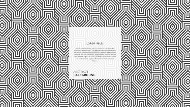 Abstrato quadrado hexagonal decorativo