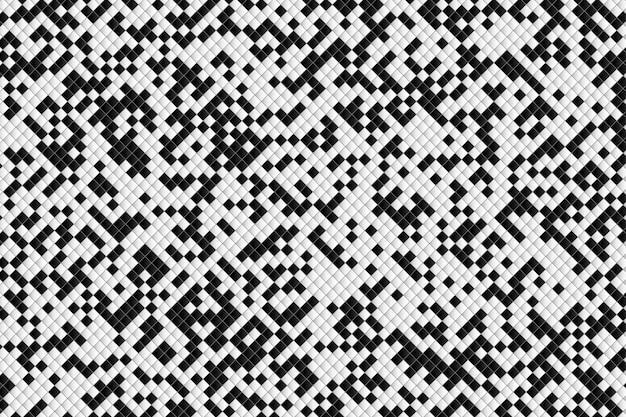 Abstrato quadrado padrão de fundo preto e branco.