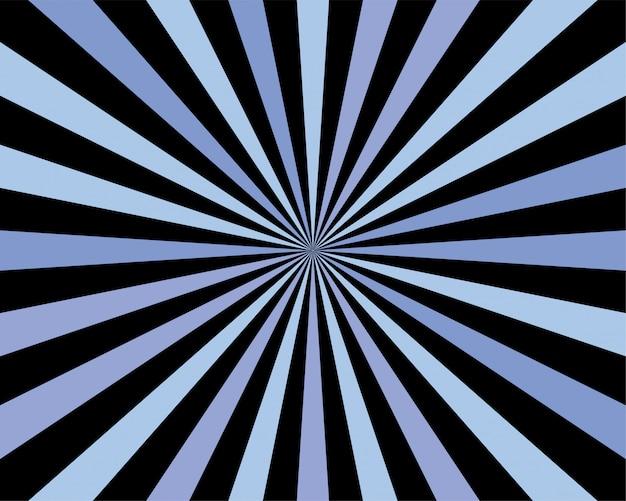Abstrato. raio de sol radial.