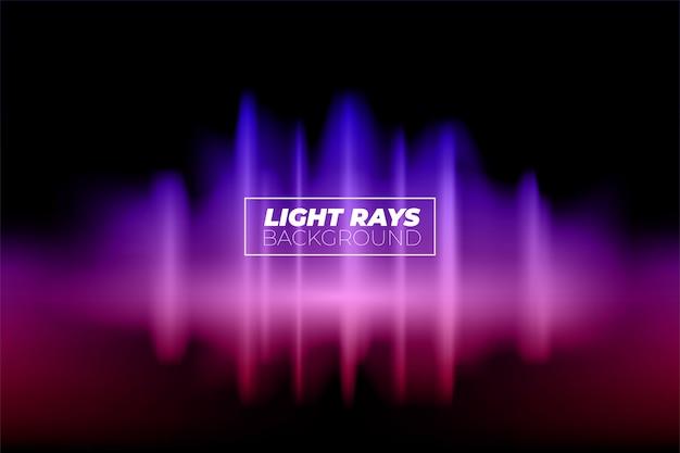 Abstrato. raios de luz roxos lindas cores e ondas sonoras com torção. vector design criativo de fundo.