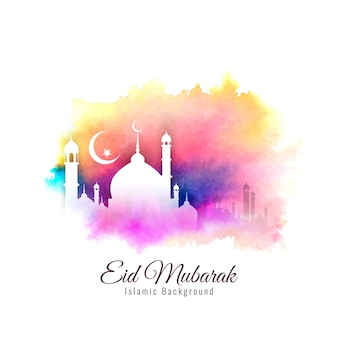 Abstrato religioso eid mubarak fundo colorido islâmico