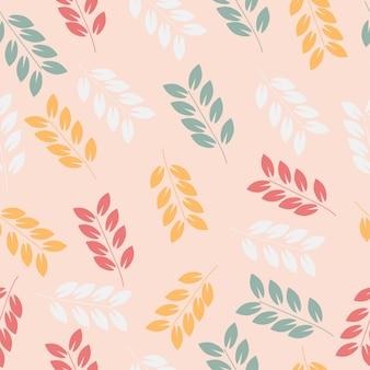 Abstrato rosa, branco e verde padrão sem emenda