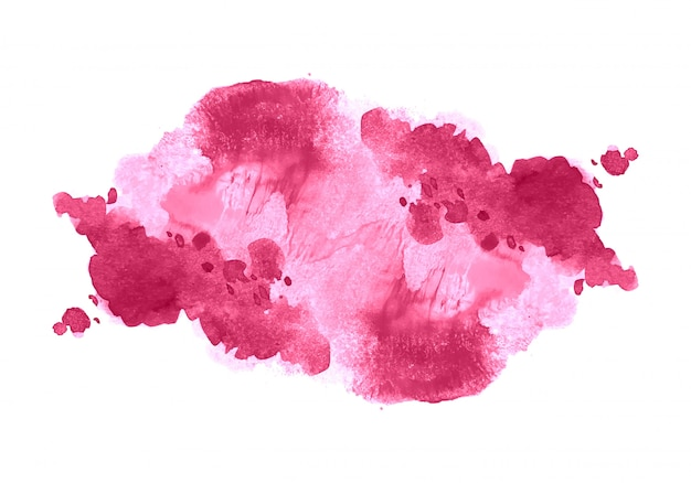 Abstrato rosa suave aquarela splash