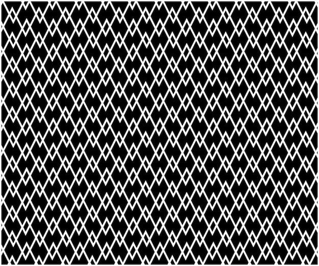 Abstrato sem costura padrão geométrico de fundo, preto e branco