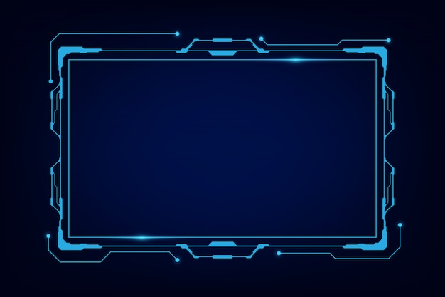 Abstrato tech sci fi holograma quadro modelo de design de fundo