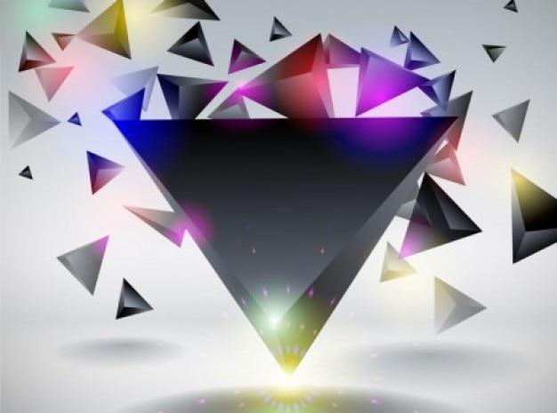 Abstrato triângulo background vector conjunto dinâmico