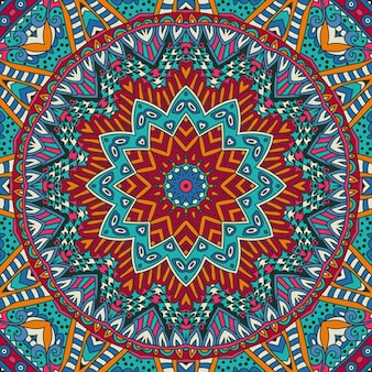 Abstrato tribal vintage étnico padrão sem emenda ornamental