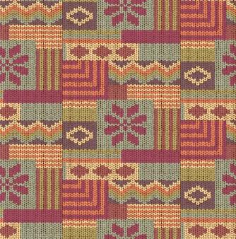 Abstrato tricô sem costura padrão geométrico. textura de malha. tecido de malha retrô