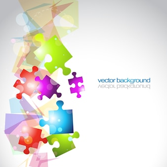 Abstrato vector puzzle shapes eps10 background